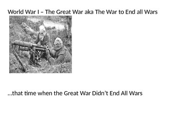 World War I: The Entire Collection (130 Pages of Reading/Activities)