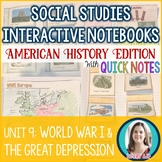 World War I | The Great Depression | Roaring Twenties Interactive Notebook