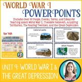 World War I | The Great Depression | Roaring Twenties Less