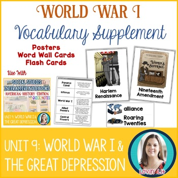 World War I | The Great Depression | Roaring Twenties Vocabulary Pack