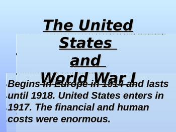 World War I & The United States