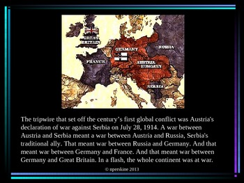 "World War I: ""The War to End All Wars"" PowerPoint"