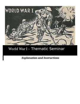Socratic Seminar - World War I - Common Core Aligned