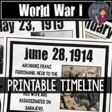 World War I Timeline {A Printable for Your Classroom}