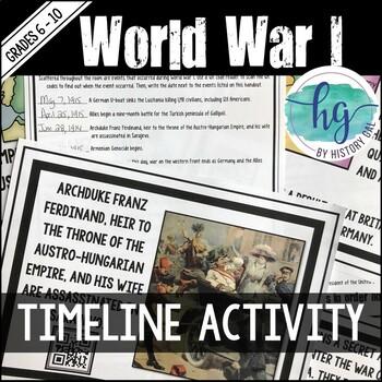 World War I Timeline Activity