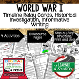 World War I Timeline, Investigation, & Writing (Paper and Google )