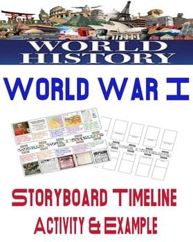 World History World War I Storyboard Timeline Activity and Example