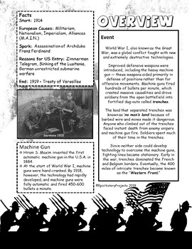 World War I Trench Warfare Project