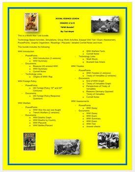 World War I - Unit Bundle