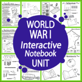 World War I Unit–12 World War I Lessons + 20 Interactive World War I Activities