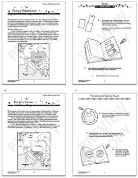 World War I Unit–12 World War I Lessons + 20 Interactive World War I Activities