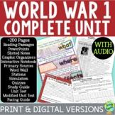 World War 1 Curriculum; WW1; Distance Learning; Digital Learning