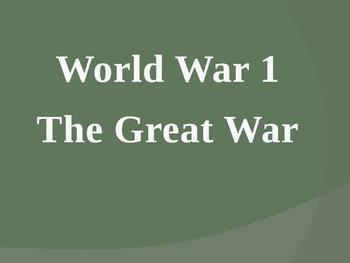 World War I Unit Plan - Common Core