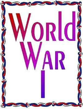 World War I Unit Plan Bundle