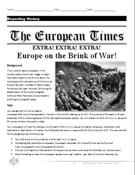 World War One Unit Plan (Complete Lesson Plans)