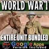 World War I Unit: PPTs, Worksheets, Lesson Plans, Test + Distance Learning