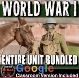 World War 1 Unit: WW1 PPTs, Worksheets, Lesson Plans, Test + Distance Learning