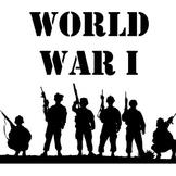 World War I Unit: Webquest, Map, Project, Readings, Graphic Organizer, Quiz