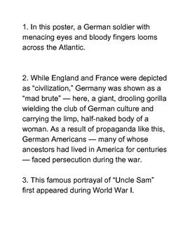 World War I - United States Propaganda