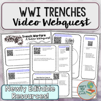 World War I Trenches Webquest