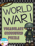 World War I Vocabulary Crossword Puzzle Activity