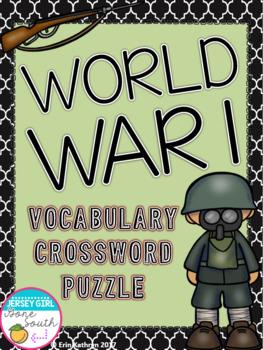 World War I Vocabulary Crossword Puzzle Activity