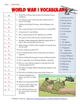 wwi vocabulary World war ii vocabulary matching activity world war ii vocabulary crossword puzzle world war ii review task cards – set of 32 study guide and test -erin kathryn.