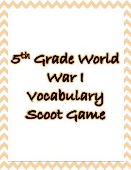 World War I Vocabulary Scoot Game