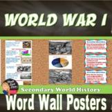 World War I WORD WALL (World History) - Grades 8-12