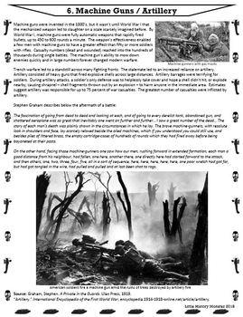 World War I (WW1) Weapon Advancements Stations Activity