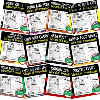 World War I, WWI Activity, Wheel of Knowledge (Interactive Notebook)