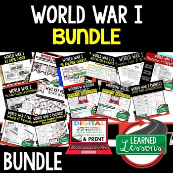 World War I WWI BUNDLE (World History Bundle)