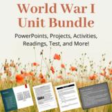 World War I (WWI) Unit Bundle: PowerPoints, Tests, Project