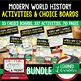 World War I (WWI) Choice Board Activities (Paper and Googl