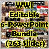 World War I (WWI) Great War 6 PowerPoints + Guided Notes Bundle (Editable)