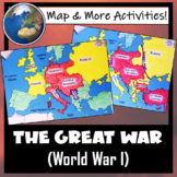 World War I- WWI Map Coloring & Questions Activity (TWO ma