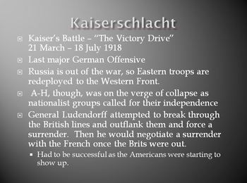 World War I (WWI) PowerPoint Bundle