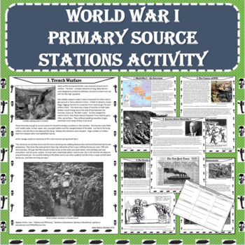 World War I (WWI) Primary Source Stations Activity