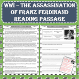 World War I (WWI) - The Assassination of Franz Ferdinand Reading Passage