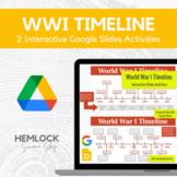 World War I (WWI) Timeline - Drag-and-drop, labeling in Slides | REMOTE LEARNING
