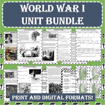 World War I (WWI) UNIT BUNDLE