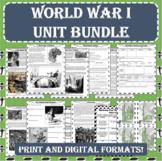 World War I (WWI) UNIT BUNDLE (PDF and Google Docs Formats)
