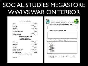 World War I VS War on Terror Writing Assignment