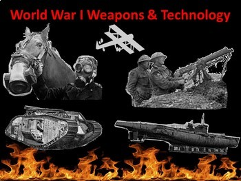 World War I Weapons Technology- Student Centered Station Lesson
