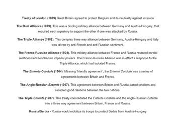 World War I - Web of Alliances
