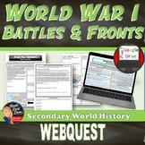"World War I Webquest ""Battles and Fronts"" (World History)"