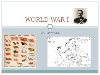 World War I Word Wall