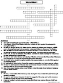 World War I Worksheet/ Crossword Puzzle