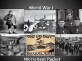 World War I - Worksheet Packet