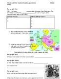 World War I Worksheets